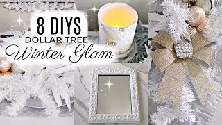 💖8 DIY DOLLAR TREE GLAM DECOR CRAFTS 💖 CHRISTMAS CENTERPIECE, CANDLE, TRAY...
