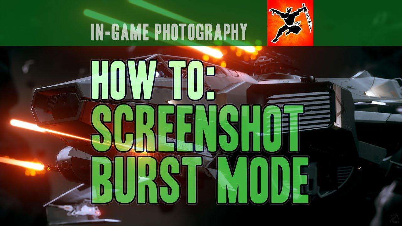In-Game Screenshot Burst Mode - YouTube