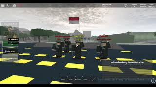 Red white flag Ceremony-Roblox Indonesia #1