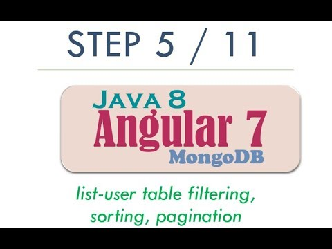 Complete Angular 7 Step By Step User CRUD with Java 8 REST, MongoDB   2019 Tutorial   Step 5 thumbnail
