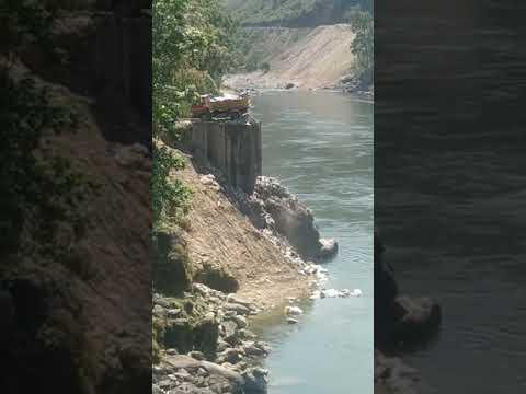Solid waste being dumped in Arunachal's Kameng River