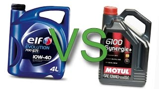 Elf Evolution 700 STI 10W40 vs Motul 6100 Synergie+ 10W40 test