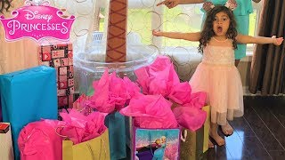 Sally opening surprise princeeses toys! family fun vlog