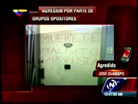 """Joven a quien escribieron """"MUÉRETE MALDITO CHAVISTA"""" en su casa es entrevistado en VTV"""