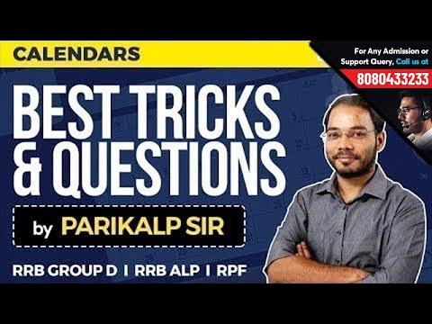 RRB Reasoning Class by Parikalp Sir | Calendar Questions for RRB ALP, RPF & Group D | Best Tricks