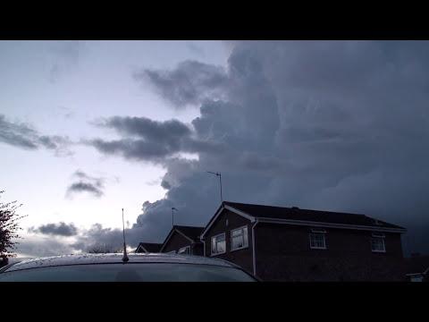 Massive Thunderstorm sweeps across the West Midlands UK