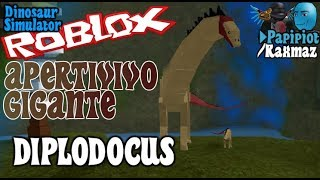🍖 PERCUSCLATO GIGANTE 🦎 - with sub Raxmaz - DIPLODOCUS - Roblox Dinosaur Simulator - Gameplay English