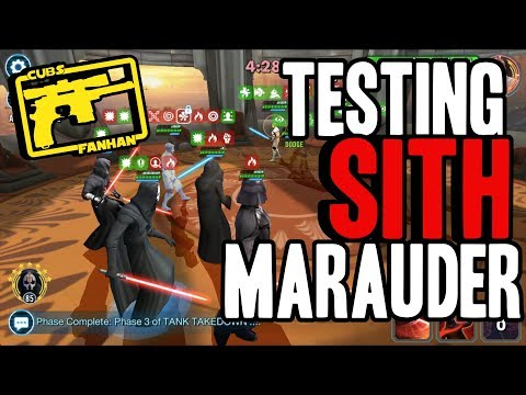 SWGOH : Testing Out Sith Marauder vs the Meta- Arena Viable or Bust?