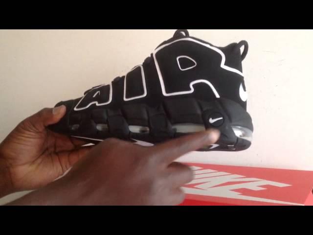 e1054389b7f Restock Alert: Kids Nike Air More Uptempo Black White 415082 002 ...