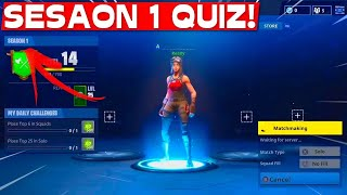 NOOB tries SEASON 1 QUIZ! | Fortnite
