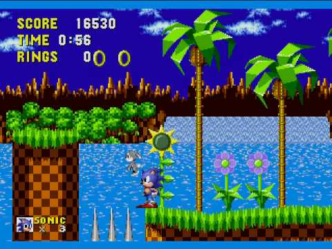 Sonic the hedgehog - Green Hill Zone - No Rings