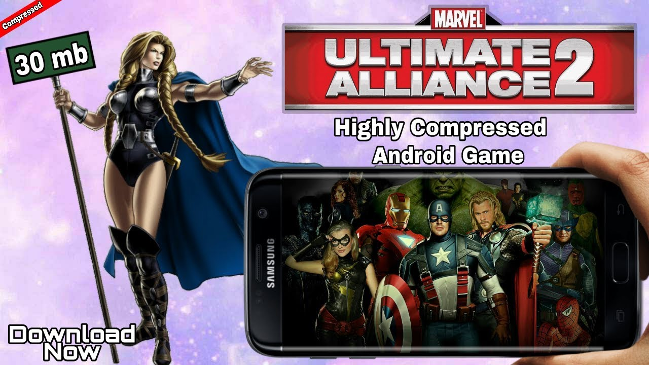 30 Mb Marvel Ultimate Alliance 2 Highly Compressed Android Game