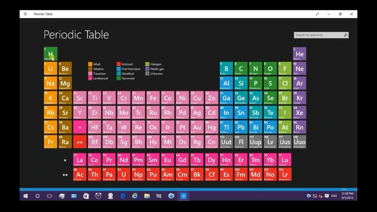 Periodic table with all elements actual or practical images youtube periodic table with all elements actual or practical images urtaz Choice Image