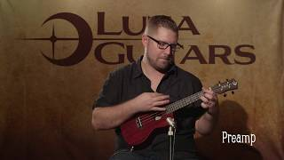 Uke Vintage Mahogany Concert w/ Preamp in Red Satin by Luna Ukes