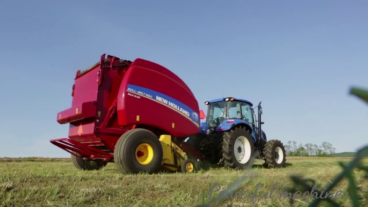 New Holland Roll Belt 560 Round Baler Features Youtube 7 Wiring Diagram For Vermeer Trailer