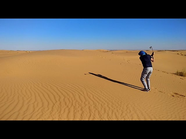 Golf in Sahara Desert Morocco