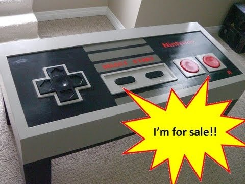 giant nes controller coffee table - sold! - youtube