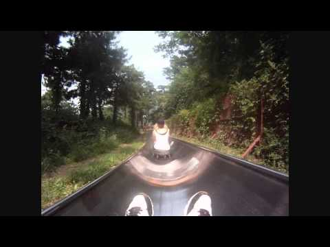 Riding the Luge at the Great Wall of China