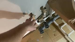 Ванная комната почти готова | Кафель в ванной на стены, подготовка к укладке кафеля.