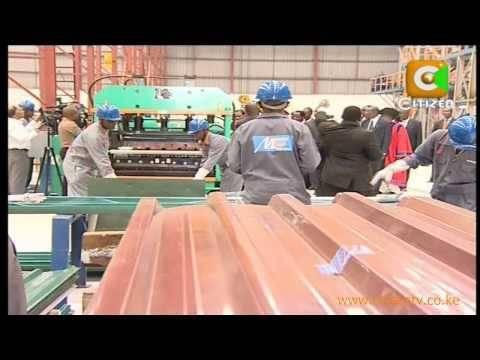 Kibaki At Mabati Rolling Mills