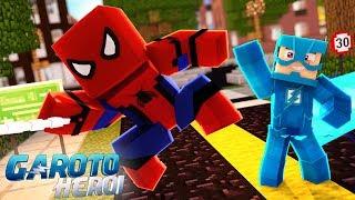 Minecraft: GAROTO HERÓI - CONHECI O HOMEM ARANHA! #30 thumbnail