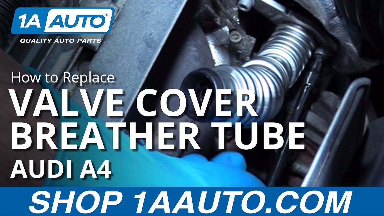 install replace valve cover breather tube  audi