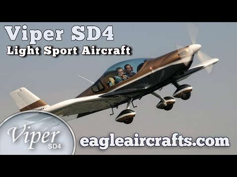 Viper SD4, Tomark Viper SD 4, all metal, low wing, side by side seating, light sport aircraft.