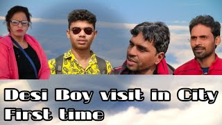 Bihari Bana Bhikari Desi Boy Visit in City First time Comedy club team