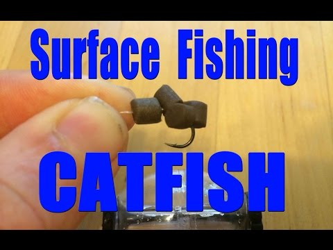 Surface fishing for catfish with artificial bait. Catch catfish with lures