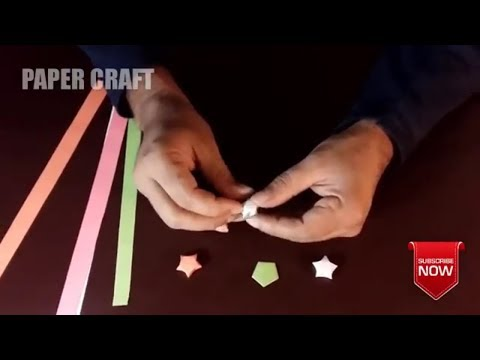 How To Make Lucky Paper Stars | Easy Lucky Paper Stars Tutorial | Best Origami Lucky Paper Stars