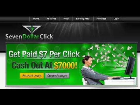 Seven dollar Click  Par Click ad 7$ Par day 100$ to 1200$ Earn Money