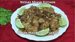 Cuban Masitas De Puerco - Pork Chunks