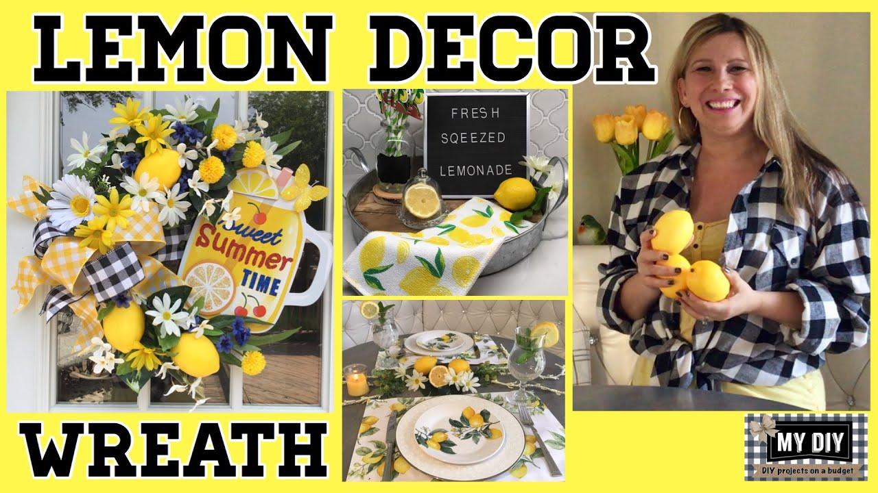Lemon Decor Ideas Diy Summer Wreath So Cheap Cute Youtube