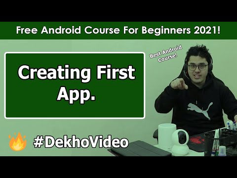Creating Our First Android App (with APK) | Android Tutorials in Hindi #2 thumbnail