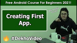 Creating Our First Android App (with APK) | Android Tutorials in Hindi #2