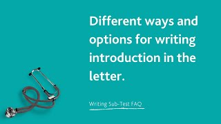 Different ways and options for writing introduction.