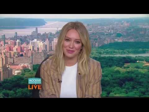 Hilary Duff opens up about the struggles of being a single working parent on Access Hollywood Live