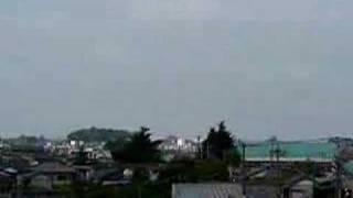 栗橋町:利根川土手からの町並み