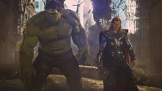 Тор и Халк работают вместе / Мстители против армии Читаури. Мстители. 2012