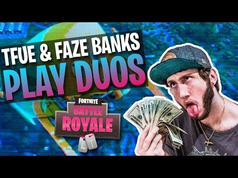 DUO SQUADS w/ FaZe Banks! Full Gameplay (Fortnite Battle Royale)