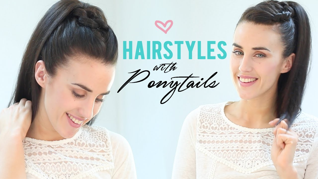 Easy hairstyles with ponytails youtube easy hairstyles with ponytails solutioingenieria