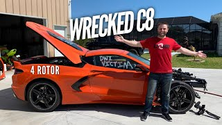 I Bought The First WRECKED C8 CORVETTE! 4 Rotor Aerovette Coming!