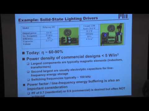 David Perreault - Powerful Circuits: Developments in High Frequency Power  Electronics