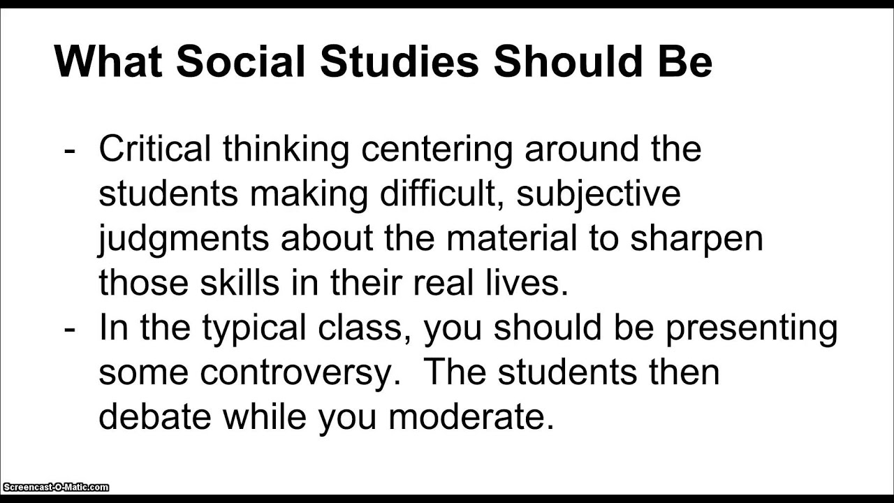 critical thinking social studies lesson plans