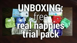 UNBOXING - Free cloth nappy trial pack