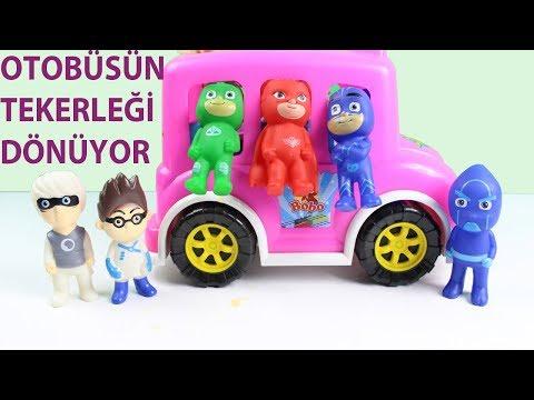 otobüsün tekerleği bebek şarkıları otobüsün tekerleği yuvarlak pijamaskeliler niloya masha