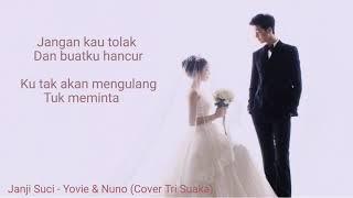 Gambar cover Yovie & Nuno - Janji Suci ( Cover Tri Suaka) | Lyrics