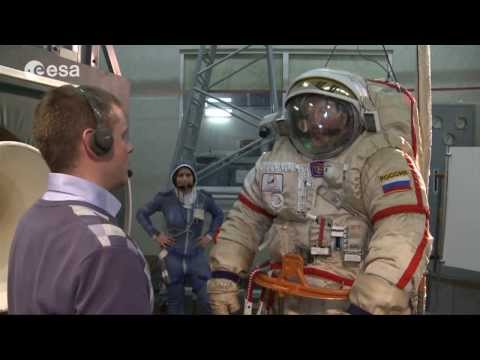 Orlan and airlock operations exercise