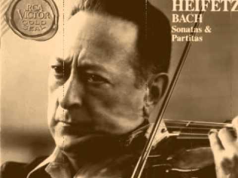 Jascha Heifetz - Bach- Violin Partita no 1 Bourree (7