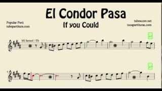 El Cóndor Pasa Partitura de Saxo Alto, Trompa o Corno y Baritono Sax Partitura en Mi bemol